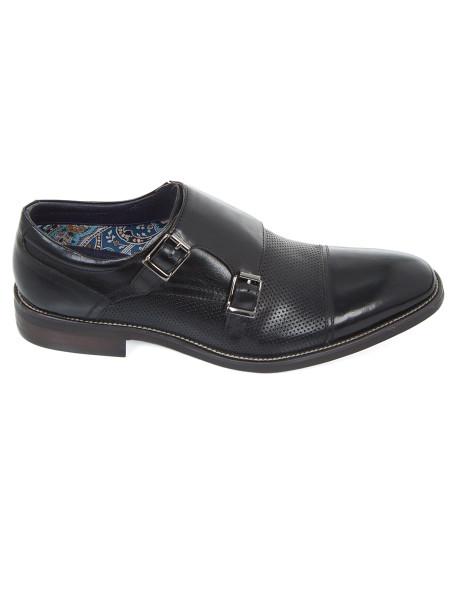 Black Double Monkstrap Shoe