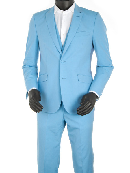 Sky Blue 2 Piece Suit