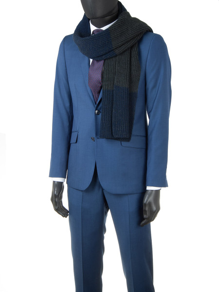 Blue Pure Wool 2-Piece Suit