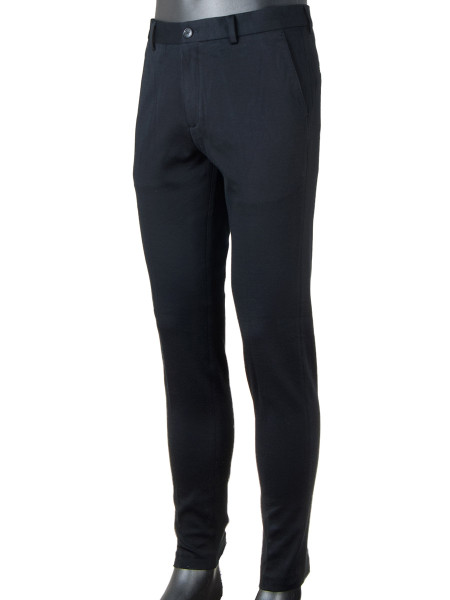 Black Regular Slim Fit Pants