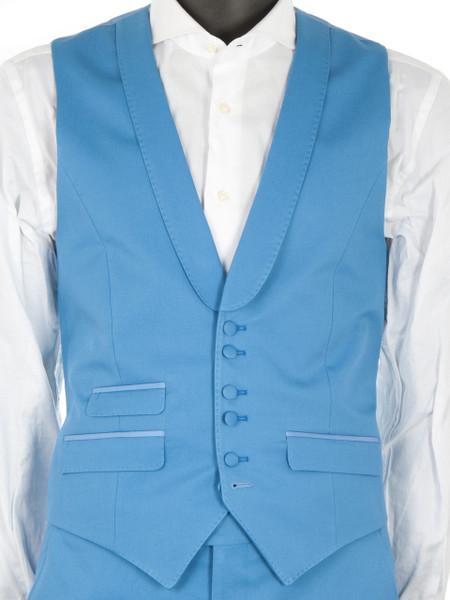 Ocean Blue Cotton Waistcoat
