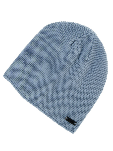 Light Blue Garter Stitch Beanie