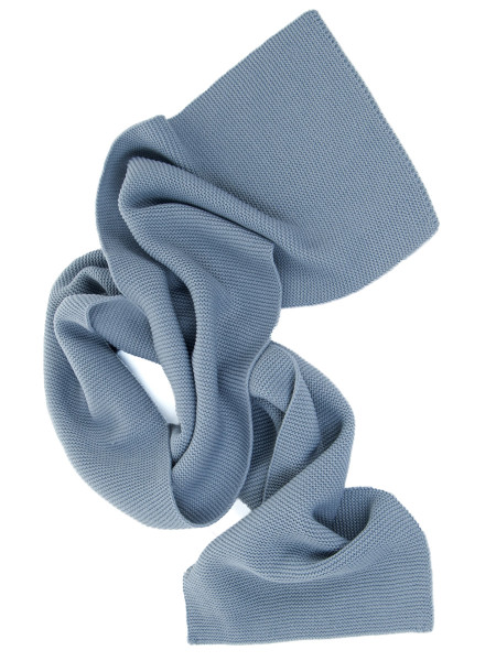 Light Blue Garter Stitch Scarf
