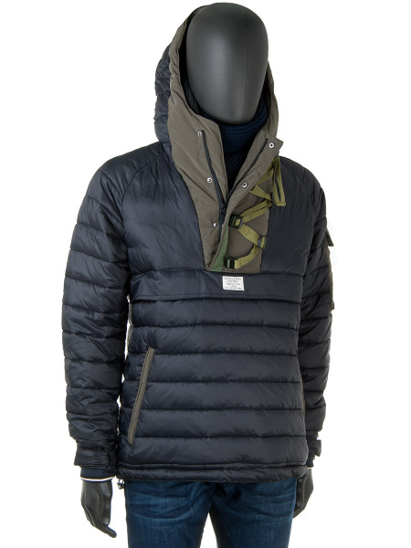 Quilted Anorak Black