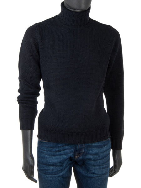 Merino Wool Rollneck Black