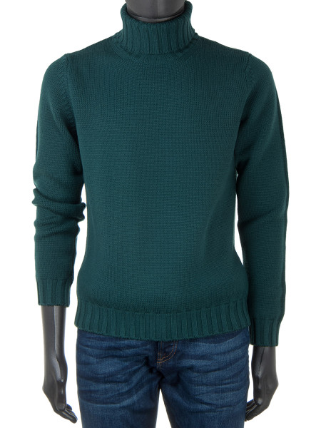 Merino Wool Rollneck Green