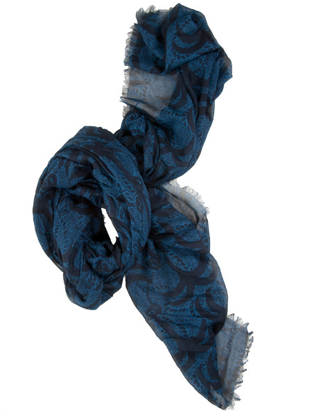 All-Over Print Modal Scarf Blue