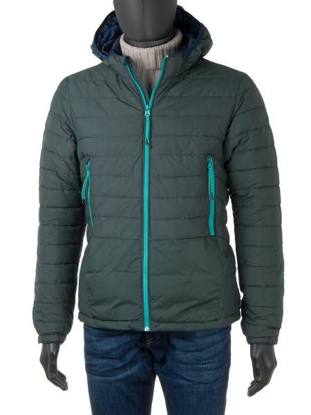 Hooded Puffer Jacket Olive Green