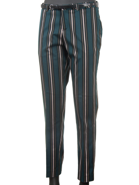 Multi-Coloured Striped Suit Pants