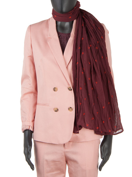Tailored Herringbone Blazer Pink
