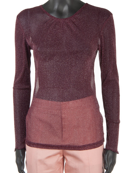 Lurex Blouse Bordeaux