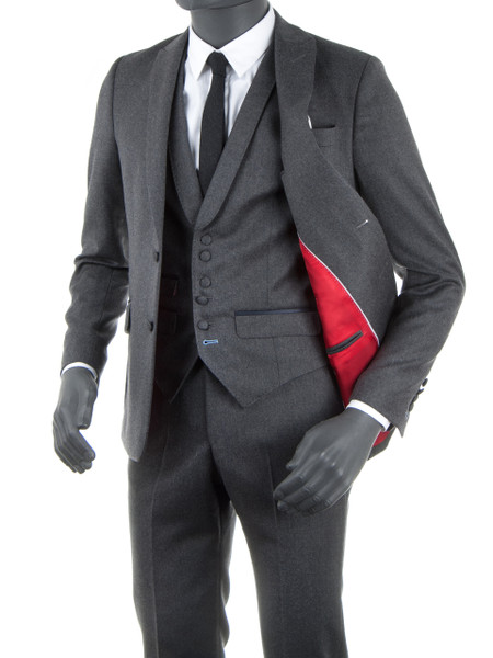Midgrey Wool Flannel 2 Piece Suit