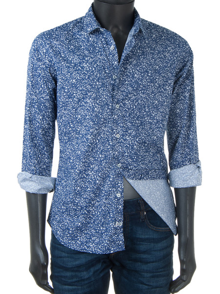 Royal Blue Printed Shirt