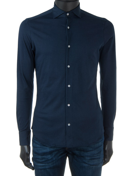Navy Cotton Jersey Shirt