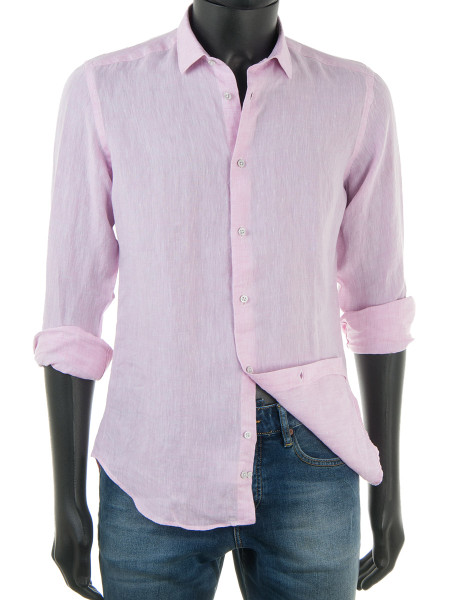 Pure Linen Shirt Light Pink