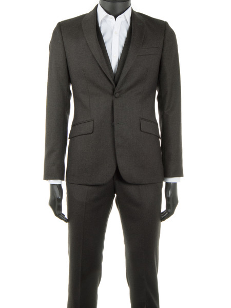 Khaki Wool Flannel 2 Piece Suit