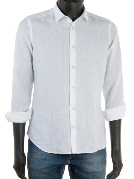 Pure Linen Shirt White