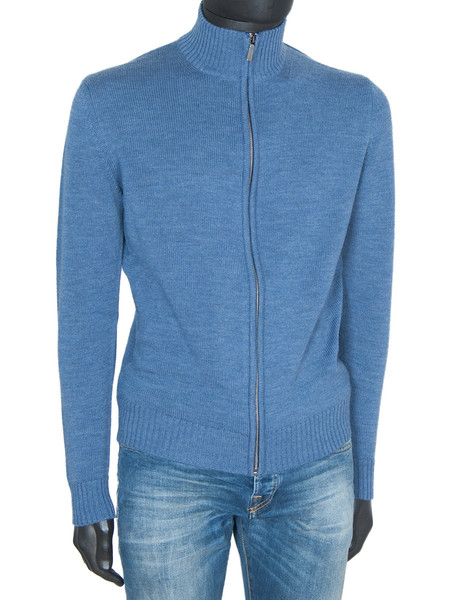 Sky Marino Wool Full Zip Cardigan