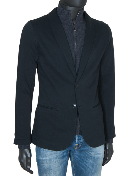 Black Jersey Blazer Jacket