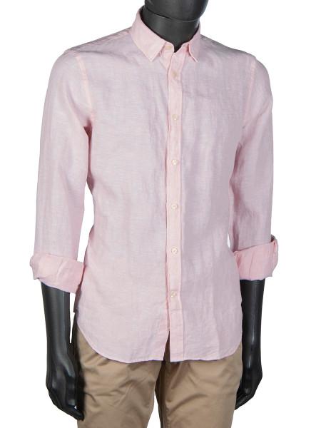 Pink Washed Linen Shirt
