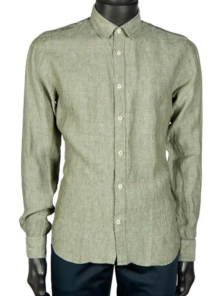 Olive Washed Linen Shirt