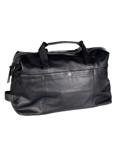 Black Weekender Leather Bag