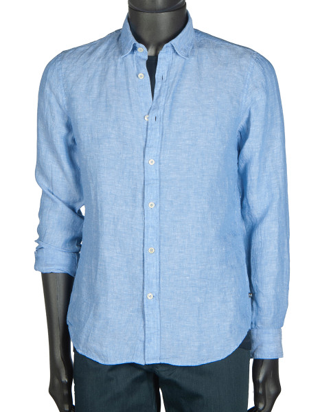 Cobalt Washed Linen Shirt