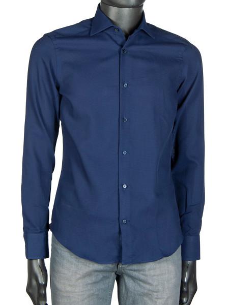 Superfine Ink Blue Cotton Shirt