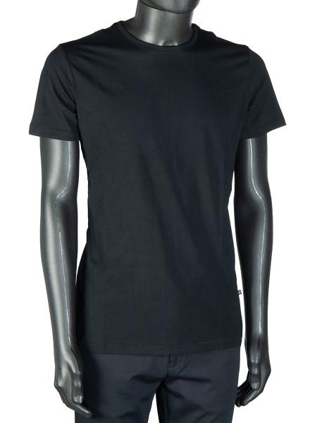 Black Cotton Crew Neck T-Shirt