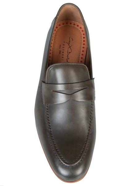 Olive Leather Loafer