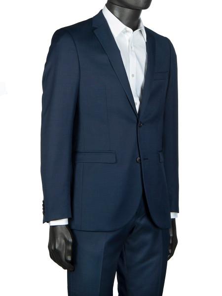 Dark Navy Wool Stretch Suit Blazer