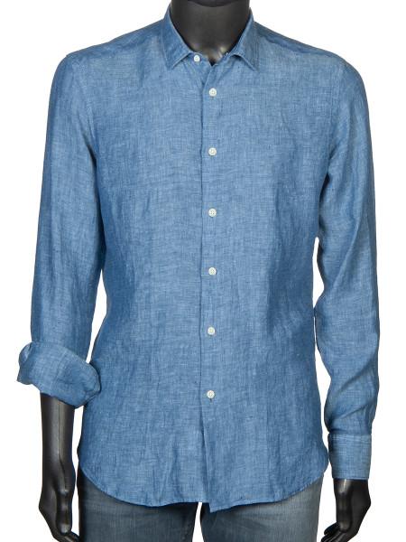 Washed Linen Shirt Ocean