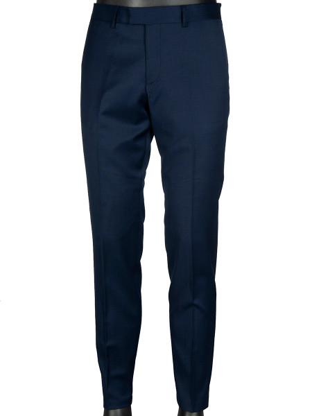 Dark Navy Wool Stretch Suit Pants
