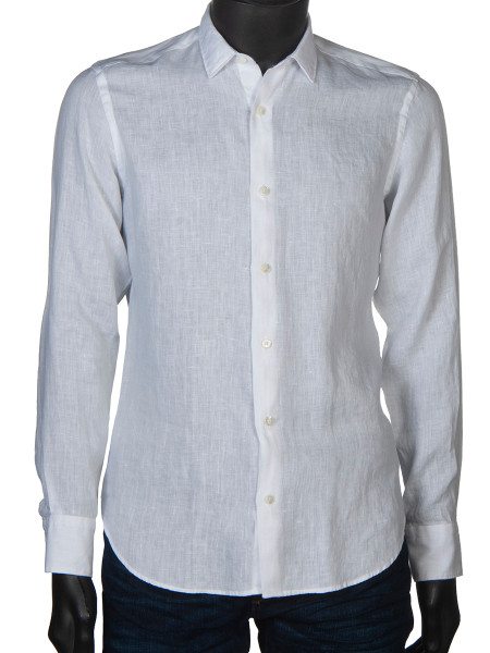 Washed Linen Shirt White