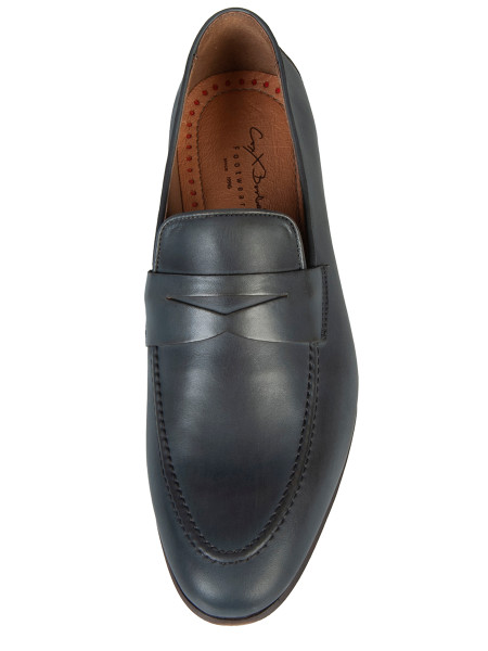 Grey Leather Loafer