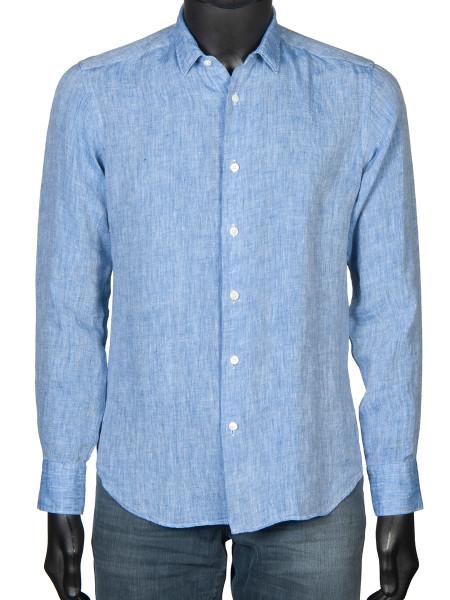 Washed Linen Shirt Sky
