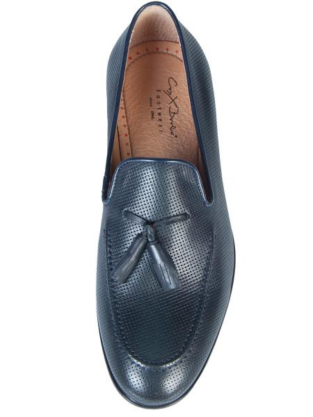 Punch Hole Smart Slip on Loafer Dark Blue