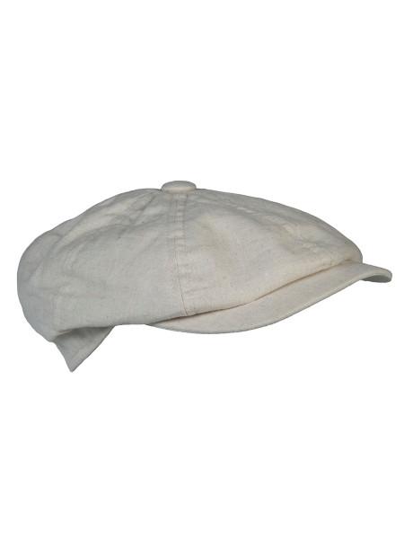 Stone Gatsby Linen Cap