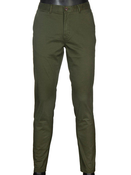 Military Green Stretch Chinos