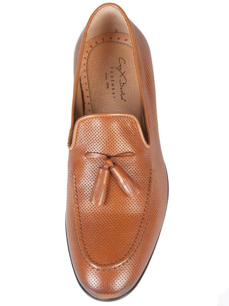 Punch Hole Smart Slip on Loafer Tan