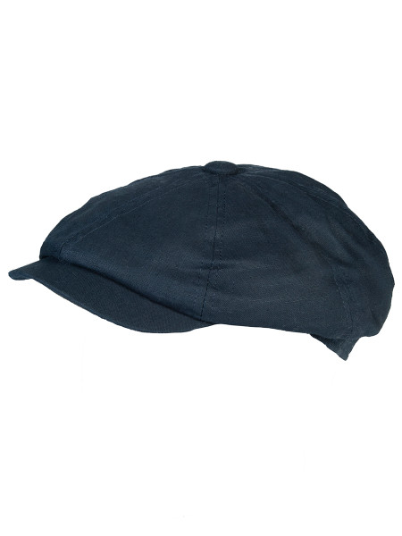 Dark Navy Gatsby Linen Cap