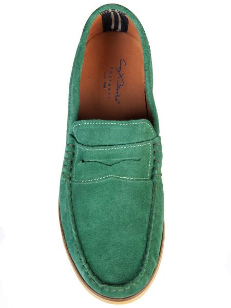 Grass Green Suede Loafer