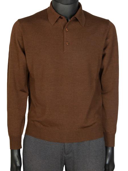 Chocolate Pure Marino Polo Shirt