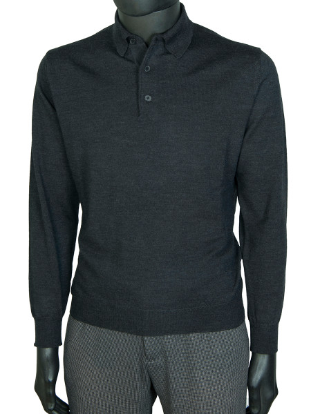 Charcoal Pure Marino Polo Shirt