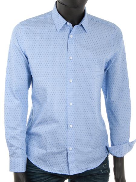 Light Blue Spot Cotton Shirt