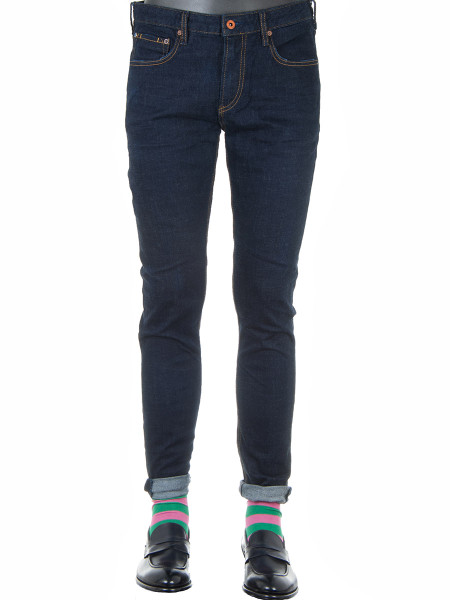 Dark Denim Stretch Skinny Fit Jeans