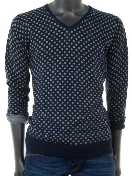 Navy Grey Dot Pullover