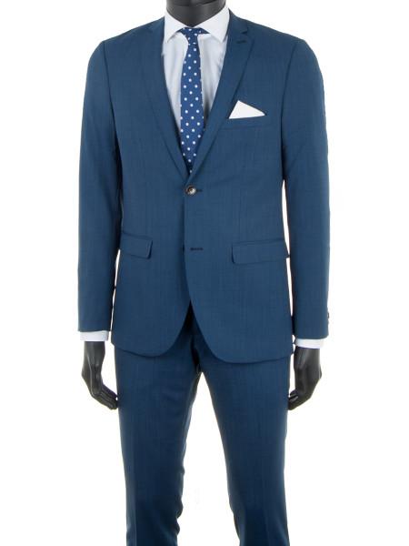 Ocean Blue Spring Wool Suit