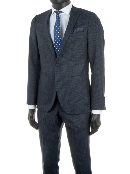 Navy Jacquard Suit