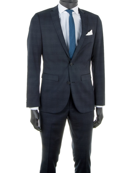 Dark Navy Prince of Wales Suit